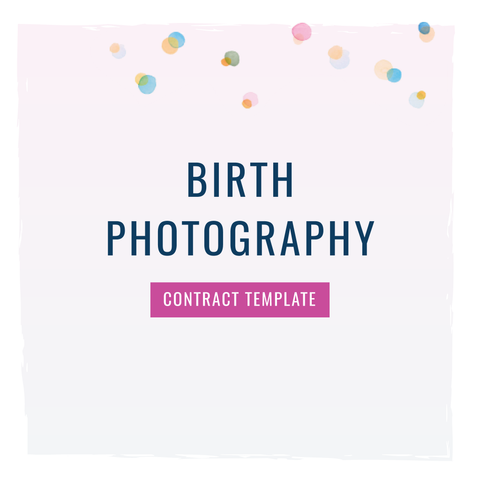 Birth Photographer Contract Template – The Contract Shop®