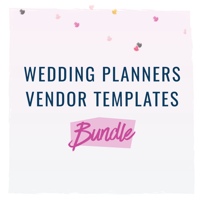 [Bundle] Vendor Templates for Wedding Planners