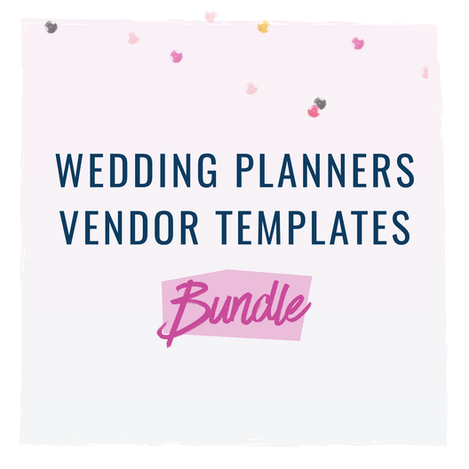 Vendor Templates for Wedding Planners