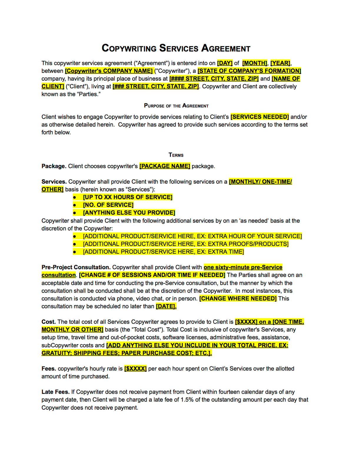 Riter Agreement Contract Template The Contract Shop Copyw