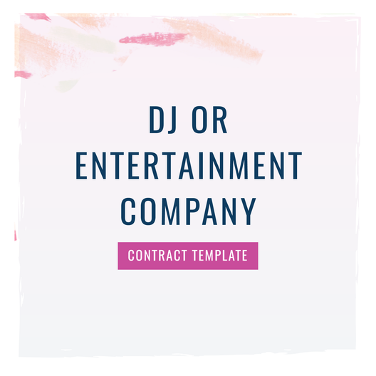 DJ/Entertainment Company Contract Template