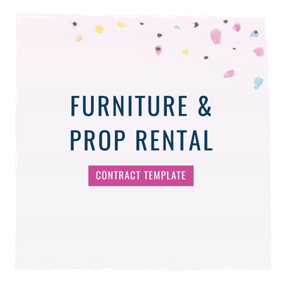 Furniture and Tableware Rental for Events and Weddings Contract Template