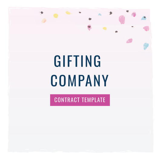 Gifting Company Contract Template