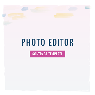 Photo Editor Contract Template