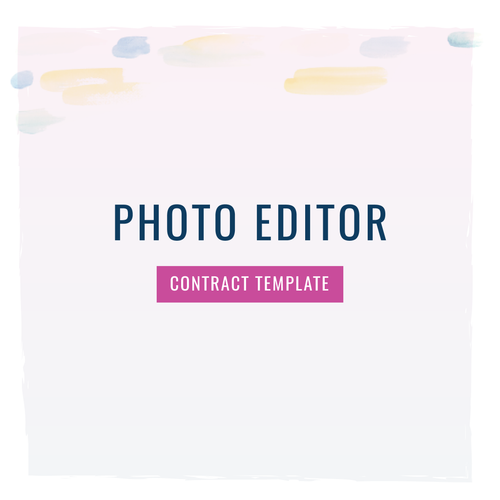 Photo or Video Editor Contract Template