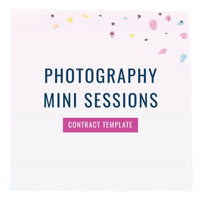 Photography Mini Sessions Contract Template