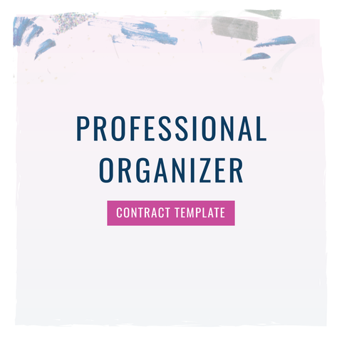 Professional organizer contract template the contract shop for Professional organizer contract template