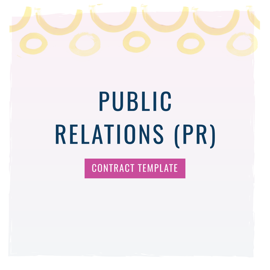 [PRE-SALE] Public Relations (PR) Contract Template