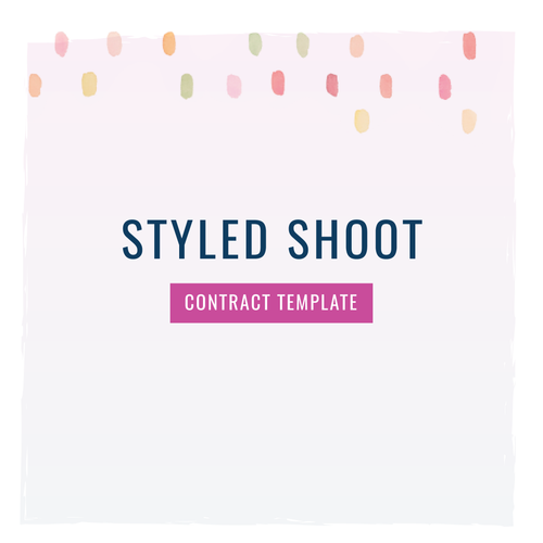Styled Shoot Contract Template