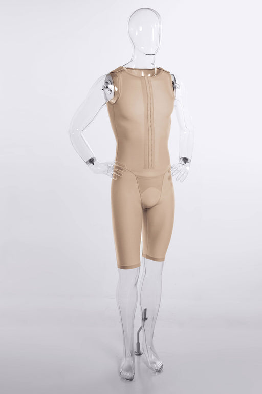 Sculpt | Men's Full Body Front Hook & Eye Adjustable Closure  Knee Length