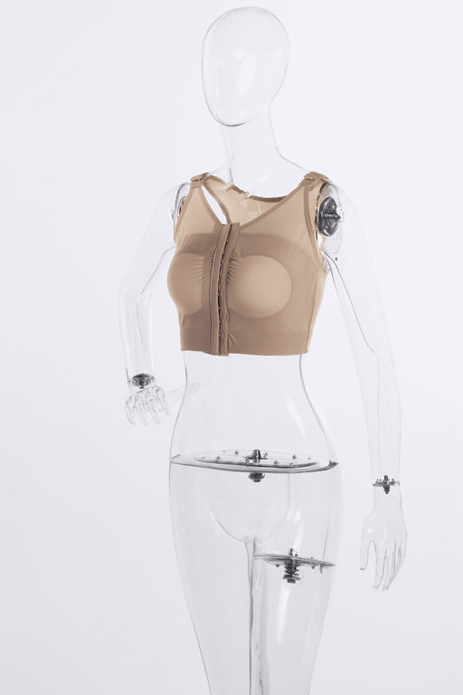 Augmentation Bra w/Implant Stabilizers Front Hook & Eye Adjustable Closure
