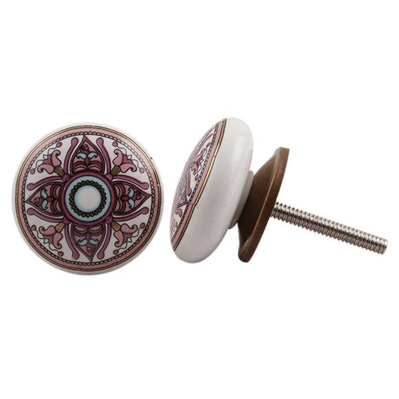 Purple Moroccan Ceramic Knob - Hip N Humble