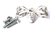 Rustic White Metal Bow - Hip N Humble