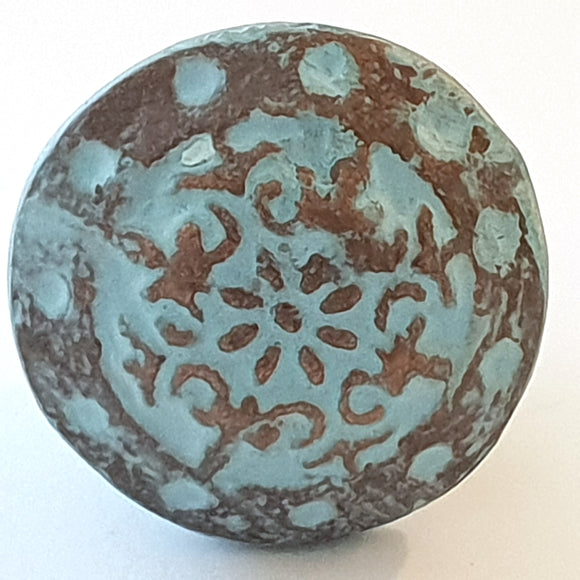 Blue Metal Viking Knob - Hip N Humble