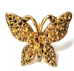 Golden Butterfly Metal Knob - Hip N Humble