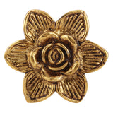 Golden Flower Metal Knob - Hip N Humble