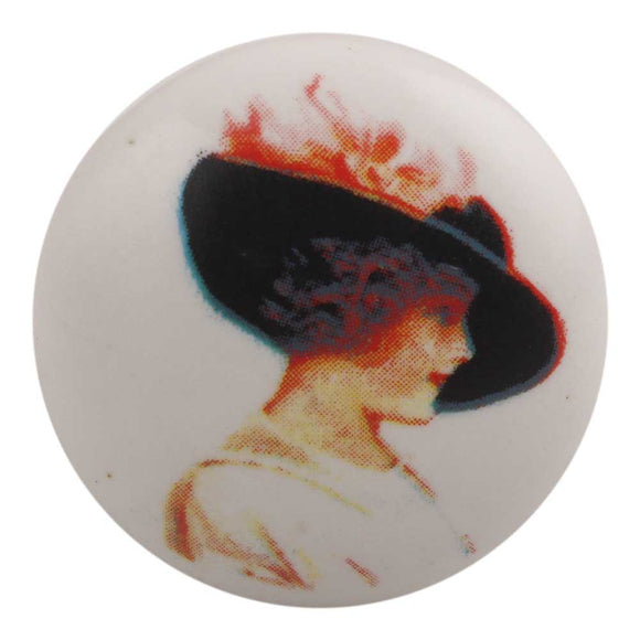 Elegant Lady Ceramic Knob - Hip N Humble
