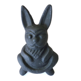 Minstrel 5 Cast Iron Happy Bunny Matt Black Metal Knob - Hip N Humble