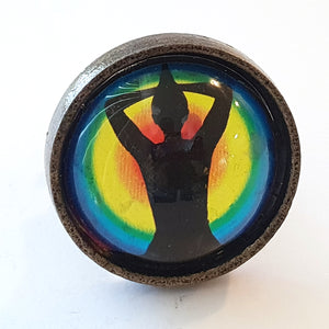Namaste  Glass and Metal Knob - Hip N Humble