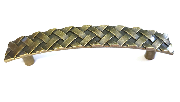 Plaited Antique English Metal Handle - Hip N Humble