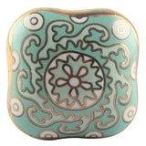 Square Aqua Gold Ceramic Knob - Hip N Humble