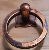 Antique Copper Metal Ring Knob - Hip N Humble