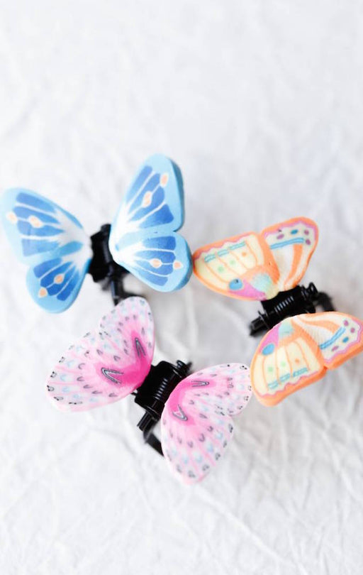 Tiny Butterfly Hair Clips