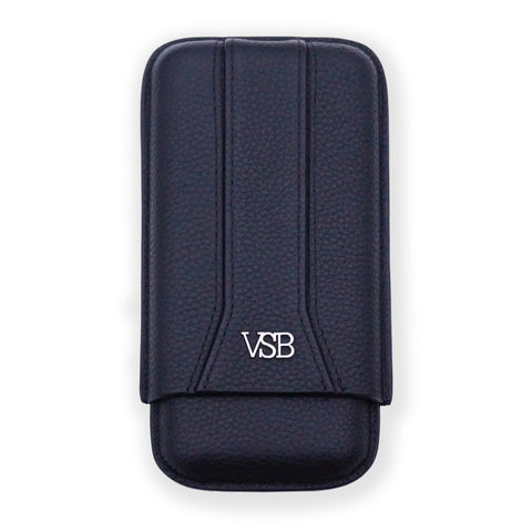 VSB London Black Leather Travel Pouch