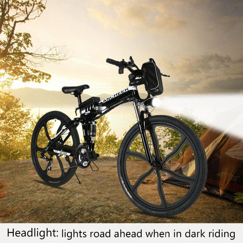 26inch 27 Speed Foldable Electric Power Mountain Bicycle with Lithium-Ion Battery