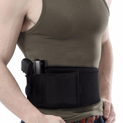 Right/Left Hand Tactical Universal Abdominal Band Holster for Glock 17 19 22 Series and Most Pistol Handguns