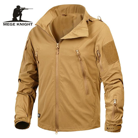 Autumn Men's Jacket Tactical Outwear Breathable Nylon Light Windbreaker