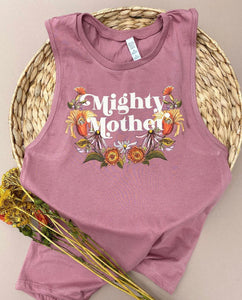 Mighty Mother - Ladies Muscle Tank - [Mauve] READY TO SHIP