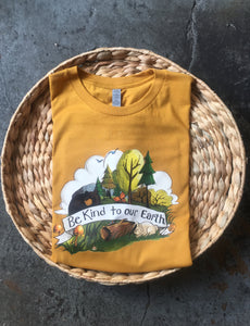 Be Kind to Our Earth [PRE-ORDER] Mustard - Unisex Tee