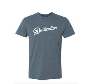Dadication - Indigo - Unisex Short Sleeve Tee [READY TO SHIP]