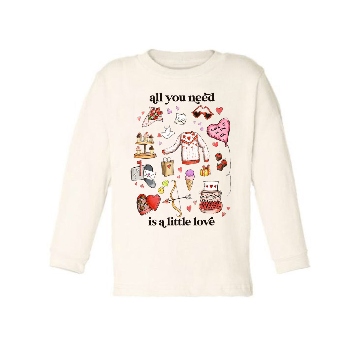 All You Need Is a Little Love [Long Sleeved Toddler Tee]