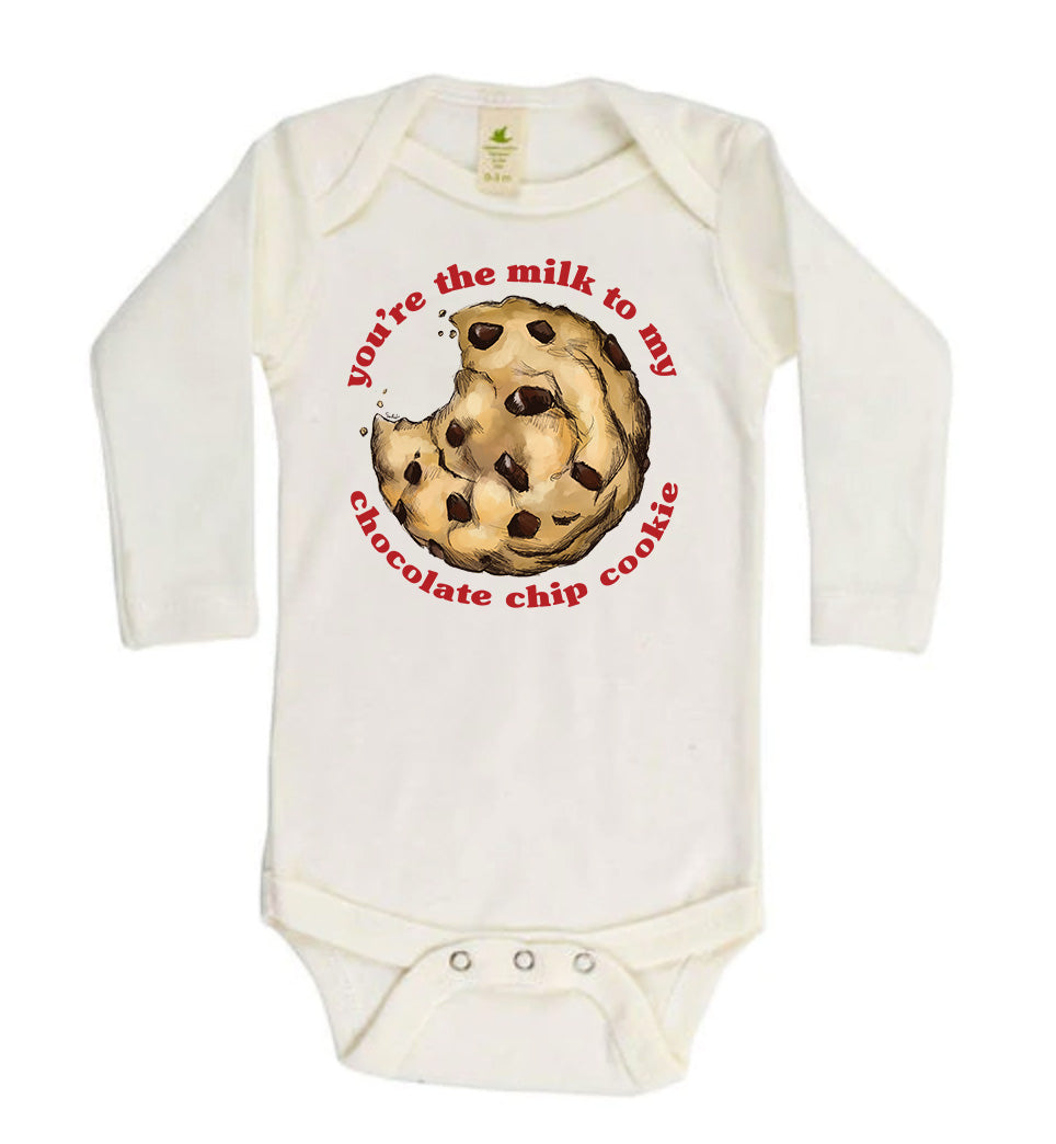 You're the Milk to My Chocolate Chip Cookie [Long Sleeved Bodysuit]