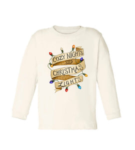 Cozy Nights [Long Sleeved Toddler Tee] READY TO SHIP