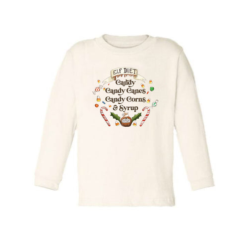 Elf Diet - Ready to Ship [LONG SLEEVE TODDLER TEE]