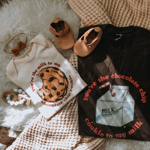 You're the Chocolate Chip Cookie to my Milk - Dark Brown [Unisex]