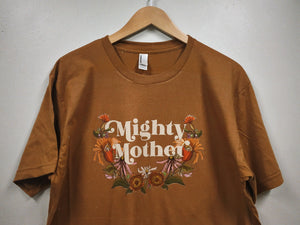 Mighty Mother - Camel - Unisex Tee [READY TO SHIP]
