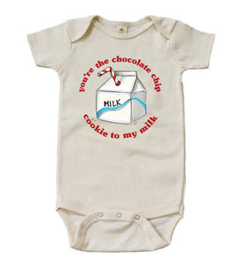 You're the Chocolate Chip Cookie to My Milk [Short Sleeved Bodysuit]