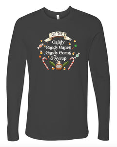 Elf Diet -  Slate - Ready to Ship [Adult Unisex Long Sleeves]