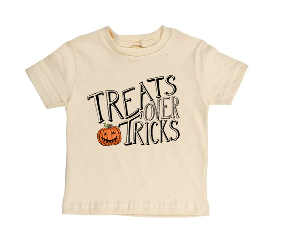 Treats Over Tricks - Short Sleeves - READY TO SHIP [Toddler Tee]