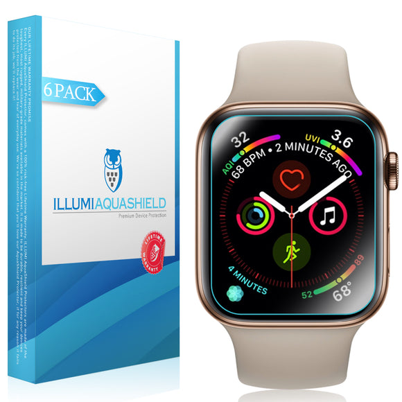 Apple Watch Series 4 (40mm) ILLUMI AquaShield Screen Protector [6-Pack][Slim for Easy Install]