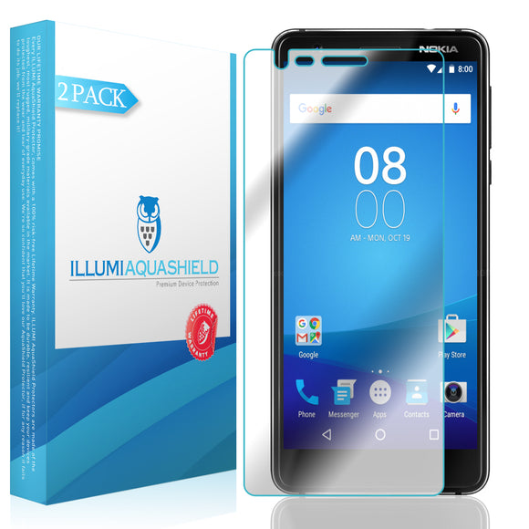 Nokia 3.1 [2-Pack] ILLUMI AquaShield Screen Protector