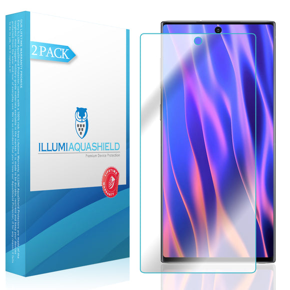 Samsung Galaxy Note 10 [6.3 inch Display] [2-Pack] ILLUMI AquaShield [Max Coverage] Screen Protector