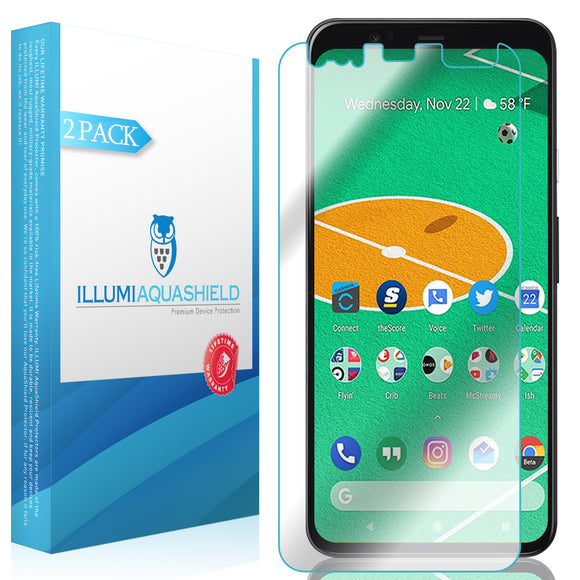 Google Pixel 4 XL [2-Pack](Full Edge Coverage) ILLUMI AquaShield Screen Protector