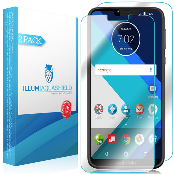 Motorola Moto G7 Power [2-Pack] ILLUMI AquaShield Front + Back Protector