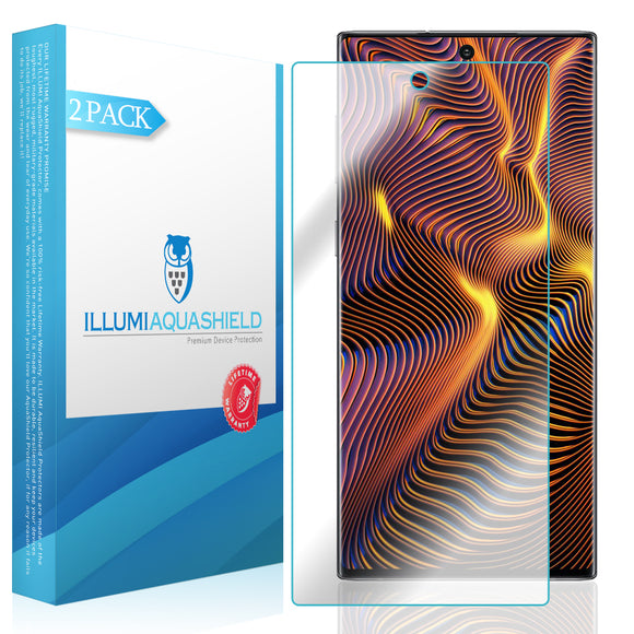 Samsung Galaxy Note 10+Plus [Note 10+ 5G, 6.8 inch Display] [2-Pack] ILLUMI AquaShield [Max Coverage] Screen Protector