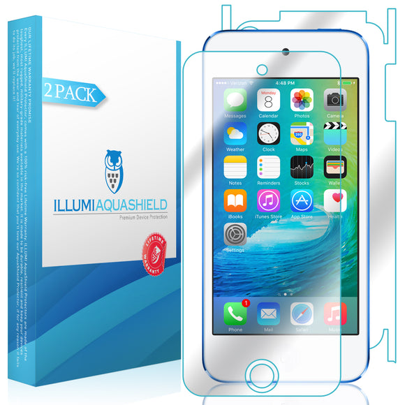 Apple iPod Touch 7th Gen, 2019 iLLumi AquaShield Front + Back Protector